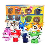 飞侠儿童玩具乐迪变形机器人包警长小青mini8只套装