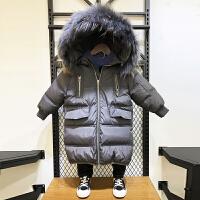 男童棉衣冬装外套儿童羽绒棉中长款宝宝童装