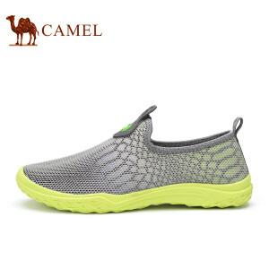 骆驼牌 男鞋 新品轻便透气网面鞋男鞋套脚低帮运动休闲鞋