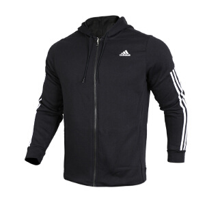 Adidas阿迪达斯男装 运动休闲保暖连帽夹克外套 BR4074