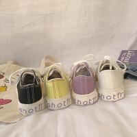 帆布鞋女学生韩版ins鞋子女新款百搭港风复古板鞋 紫色