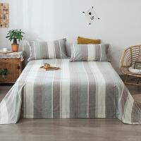 自由水洗棉床单单件纯棉学生宿舍床单1.5m1.8米单人ins全棉被单