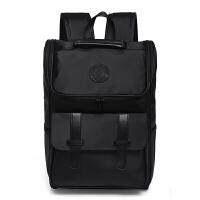 防水尼龙双肩包街头时尚潮流大容量旅行背包15.6寸男中大学生书包 黑色