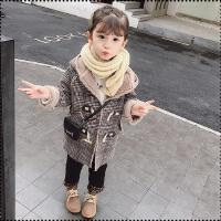 女宝宝秋冬装外套女童洋气中长款风衣儿童大衣