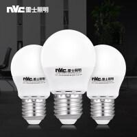 雷士照明 3瓦LED灯泡 E27螺口 4件装