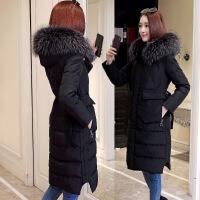 羽绒服女中长款加厚修身显瘦时尚超大大毛领韩版2018冬季新款反季
