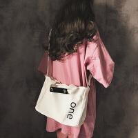 同款帆布包女单肩大容量布包韩国简约文艺斜挎包少女手提包