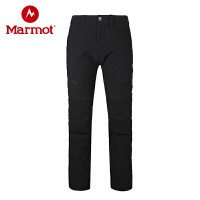 Marmot/土拨鼠男式防泼水轻量透气速干拼接M3软壳长裤