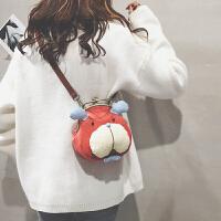 毛绒小包包女休闲可爱仙女单肩斜挎包儿童圆环手提包