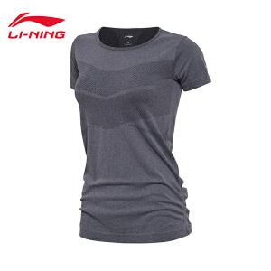 李宁短袖T恤女士新款训练系列上衣反光女装短装夏季运动服ATSM194