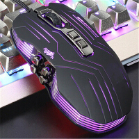 鼠标有线电脑台式笔记本办公吃鸡光电宏定义游戏多键加重电竞鼠标LOL CF守望先锋