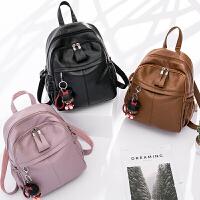 双肩包女2018新款韩版潮百搭书包旅行包软皮包包休闲时尚女士背包