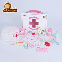 木制玩具 小医生仿真过家家护士医疗玩具 箱木盒装