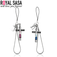 皇家莎莎RoyalSaSa卡通沙漏吊坠手机链DIY钥匙挂件包包挂饰一对 时尚饰品礼物HS1407SP439