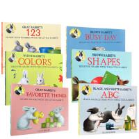 【全店300减110】英文原版6册合售White Rabbit's Colors 小兔子系列 吴敏兰书单经典绘本 亲子互