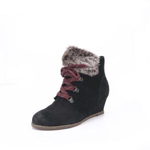 Clarks/其乐女鞋2017秋冬新款坡跟时尚休闲高帮短靴Lumiere Spin专柜正品直邮