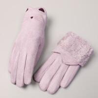 手套女冬天保暖寒户外骑行可爱学生手套