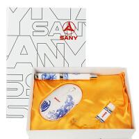 中国龙 无线鼠标青花瓷商务礼品 青花瓷套装3件套 青花瓷笔+青花瓷8GU盘+青花瓷鼠标