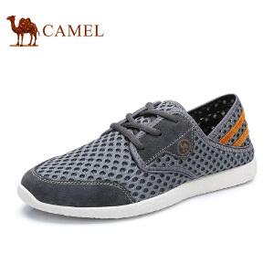 骆驼牌 男鞋 舒适时尚运动休闲鞋轻便透气低帮网面鞋男
