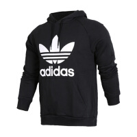Adidas阿迪达斯男装 三叶草运动休闲连帽保暖卫衣套头衫 BR4852