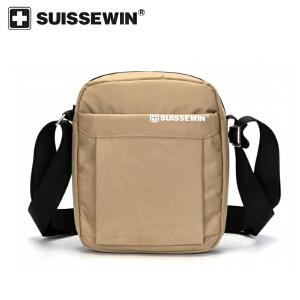 【SUISSEWIN旗舰店 支持礼品卡支付】男女通用商务小背包时尚斜跨小包包零钱包外出便携包包