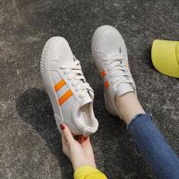 帆布鞋子女2019新款百搭韩版学生小白鞋春秋平底网红板鞋ins潮鞋 35 女款