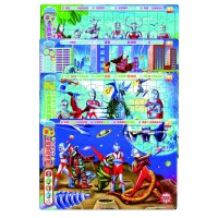 咸蛋超人亲子互动游戏拼图(套装共4册)