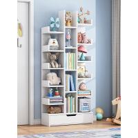 【特价】北欧书架置物架落地简约家用客厅收纳柜经济型书橱学生简易小书柜