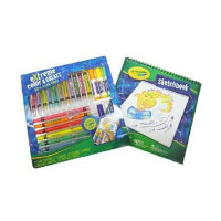 美国Crayola绘儿乐儿童蜡笔水彩笔画本组合装创意绘画套装04-5716