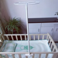 甜梦莱婴儿床蚊帐支架杆配件儿儿童床夹式通用蚊帐带支架宝宝蚊帐罩