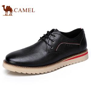 camel 骆驼男鞋秋季新品日常休闲男皮鞋青年系带休闲男鞋