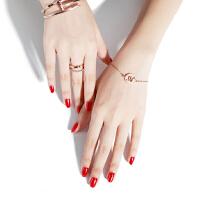包邮十二星座手链 女韩版简约闺蜜镀18K玫瑰金手链情侣饰品