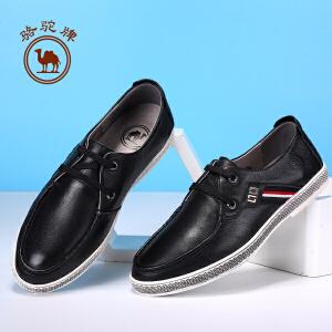 骆驼牌 新品男士皮鞋日常时尚休闲鞋舒适男板鞋耐磨
