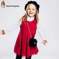 【秒杀价:139元】暇步士童装秋装新款女童裙子中大童马甲裙儿童无袖针织连衣裙