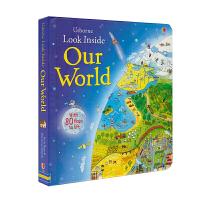 【首页抢券300-100】Usborne Look Inside Our World 看里面之我们的世界 儿童英语翻翻纸