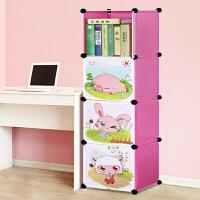 林仕屋卡通书柜书架自由组合玩具收纳柜简易储物置物架书柜A6102 A6103 A6104