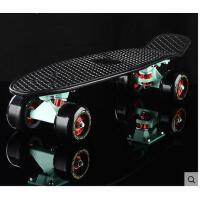 时尚炫酷小鱼板大轮公路刷街滑板单翘代步四轮滑板车 可礼品卡支付