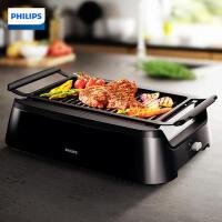 飞利浦(PHILIPS)牛排机 HD6371/91家用少烟电烤炉烧烤炉电烤盘烤肉铁板烧商用烧烤机 HD6371/91