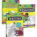 英文原版 幼儿园180天阅读、写作、数学3本合辑 180 Days of Practice for Kindergar