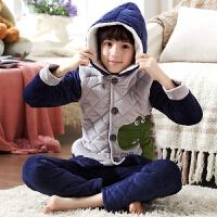 儿童睡衣男童冬女童家居服套装