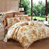 [当当自营]富安娜家纺 全棉磨毛套件秋冬磨毛四件套床单被套 一抹淡香 1.8m(6英尺)床