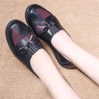 妈妈单鞋软底中老年皮鞋舒适老人女鞋奶奶单鞋老太太鞋春秋季