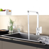 天王卫士单孔厨房龙头天卫浴高标铜芯洗菜盆水槽冷热水混水阀