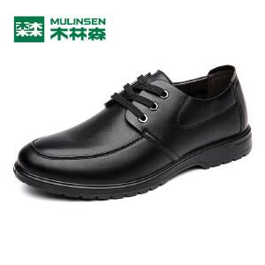 木林森男鞋 秋款男士商务休闲皮鞋 低帮系带百搭男皮鞋05367341