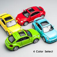 大众新甲壳虫合金车模玩具声光开门1:32金属玩具车儿童回力小汽车