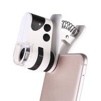 直充电式放大镜50倍/60倍带灯LED显微镜可接所有手机拍照 便携显微镜鉴定验钞古玩字画玉石放大镜 179(50倍镜头