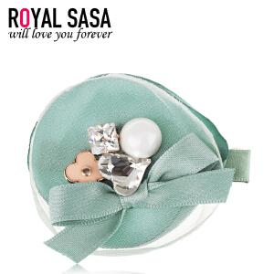 皇家莎莎RoyalSaSa韩国头饰时尚手工发夹边夹刘海夹发饰鸭嘴夹一字夹发卡
