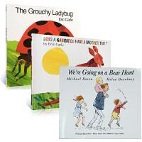 句型重复性高的绘本3本套装We're Going on a Bear Hunt The Grouchy Ladybug Does a Kangaroo Have a Mother, Too?送音频