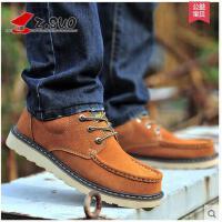 Z.Suo/走索英伦休闲鞋大码板鞋男大头鞋低帮工装鞋男鞋ZS6156
