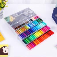 双头水彩笔12色60色100色彩色马克笔套装毛刷笔勾线笔